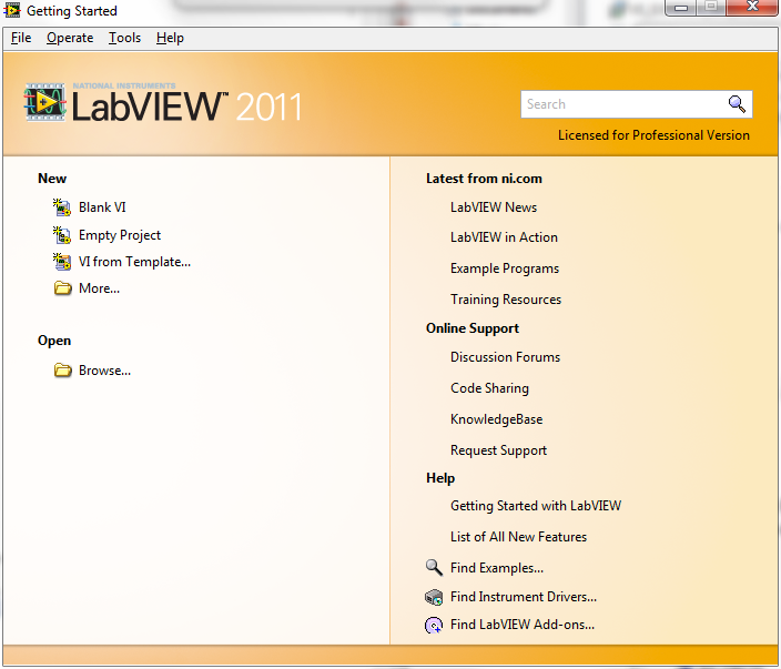 NI LabVIEW Installation